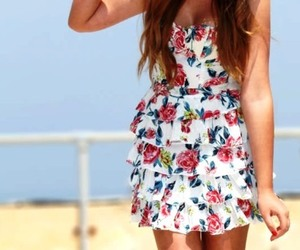 dress, print, and floral image
