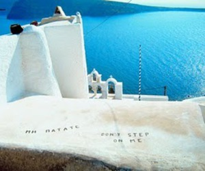 Greece, sea, and dont step on me image