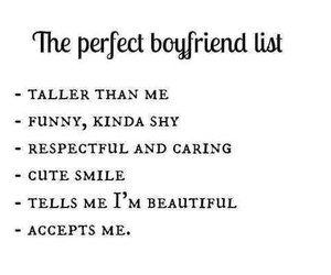 boyfriend, perfect, and list image