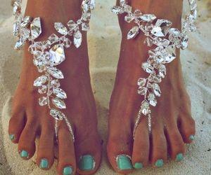 summer, beach, and nails image