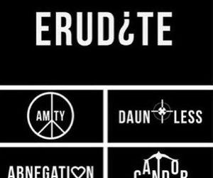 divergent, candor, and erudite image