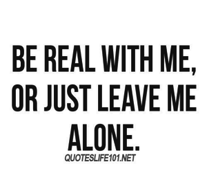 quotes, real, and alone image