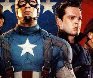 captain america, smithsonian, and steve rogers image