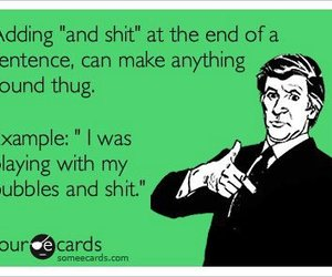 funny, thug, and bubbles image