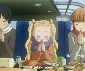 anime, food, and honey and clover image