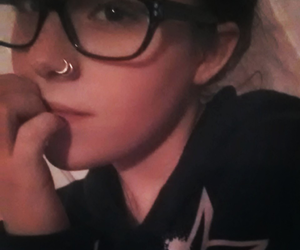 ray bands, double nose piercing, and double nose ring image