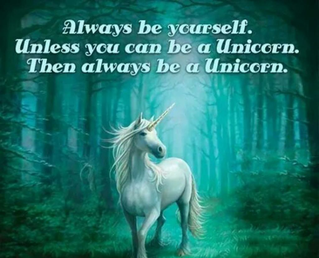 unicorn and be you image