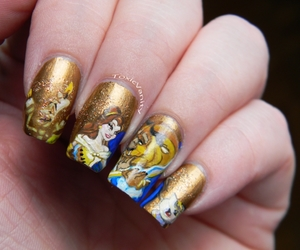 nails and beauty and the beast image