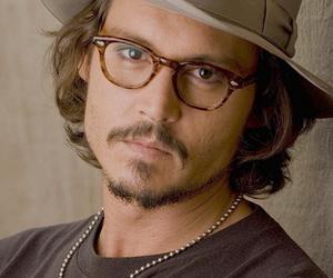 johnny depp, glasses, and hat image