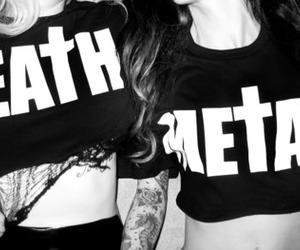 girl, metal, and black and white image