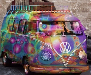 car, hippie, and colors image