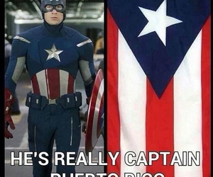 captain america, funny, and puerto rico image