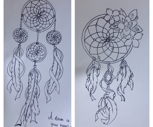 art, draw, and dreamcatcher image