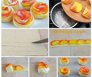 diy, peach, and food image