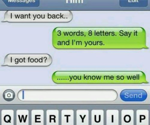 funny, love, and food image