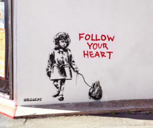 heart, art, and follow image