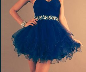 blue, sparkly, and dress image