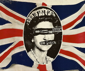 sex pistols, god save the queen, and Queen image