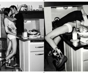 boy, kitchen, and sex image