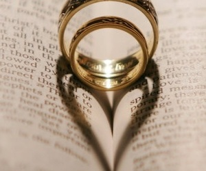 love, heart, and rings image