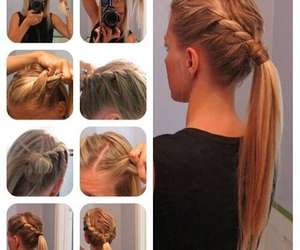 hair, hair tutorial, and high pony tail image