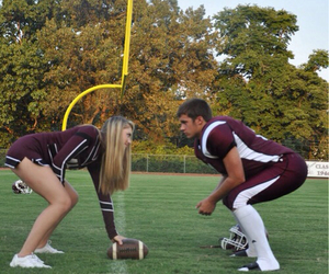 couple, love, and football image