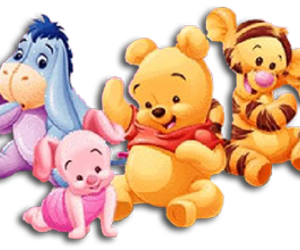 baby, piglet, and tigger image
