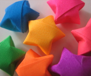 color, stars, and origami image