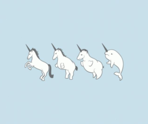 unicorn, blue, and dolphin image
