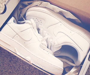 nike, white, and air max force 1 image