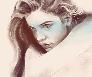 drawing and barbara palvin image