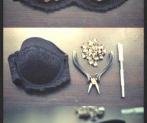 diy, bra, and black image