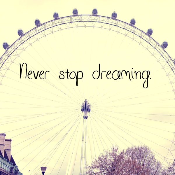 Never Stop Dreaming Uploaded By Clémentine On We Heart It