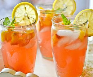 drink, lemon, and orange image