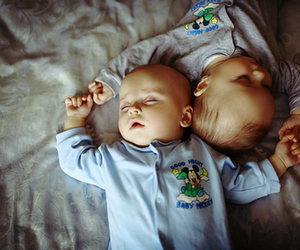 baby, sleep, and twins image