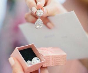 diamond, jewelry, and earrings image