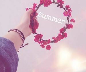 holidays, pink, and summer image