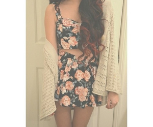 curly, dress, and fashion image