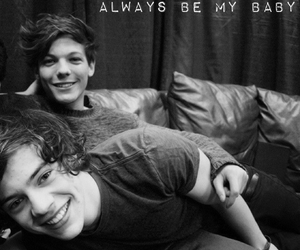 black and white, louis tomlinson, and larry stylinson image