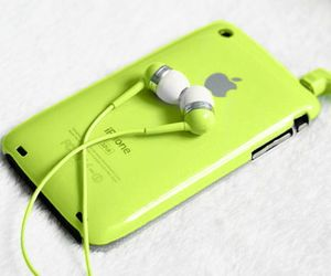 apple, iphone, and green image