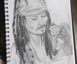 drawing, sketchbook, and jack sparrow image