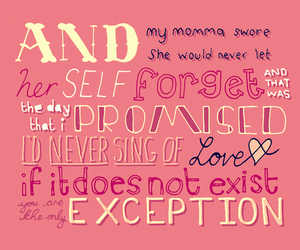 paramore, the only exception, and song image