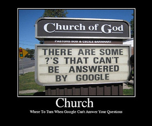 church, google, and sign image