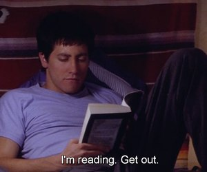 book, reading, and donnie darko image