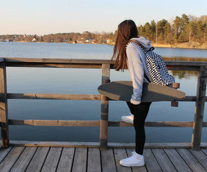 backpack, summer, and girl image