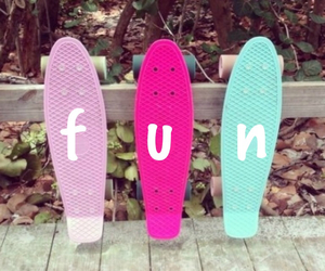 fun, pink, and skate image