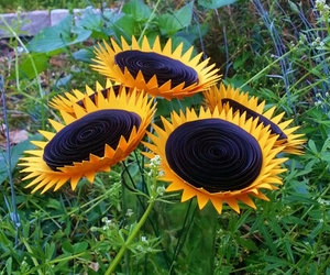 paper flowers, summer wedding flowers, and mammoth sunflowers image