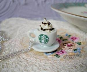 necklace, miniature, and starbucks image