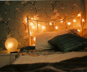 beautiful, bed, and lamps image
