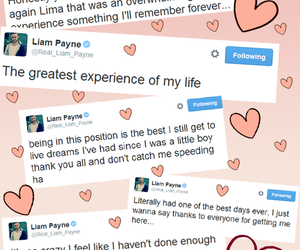 tweets, liam payne, and one direction image